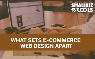 What Sets E-Commerce Web Design Apart