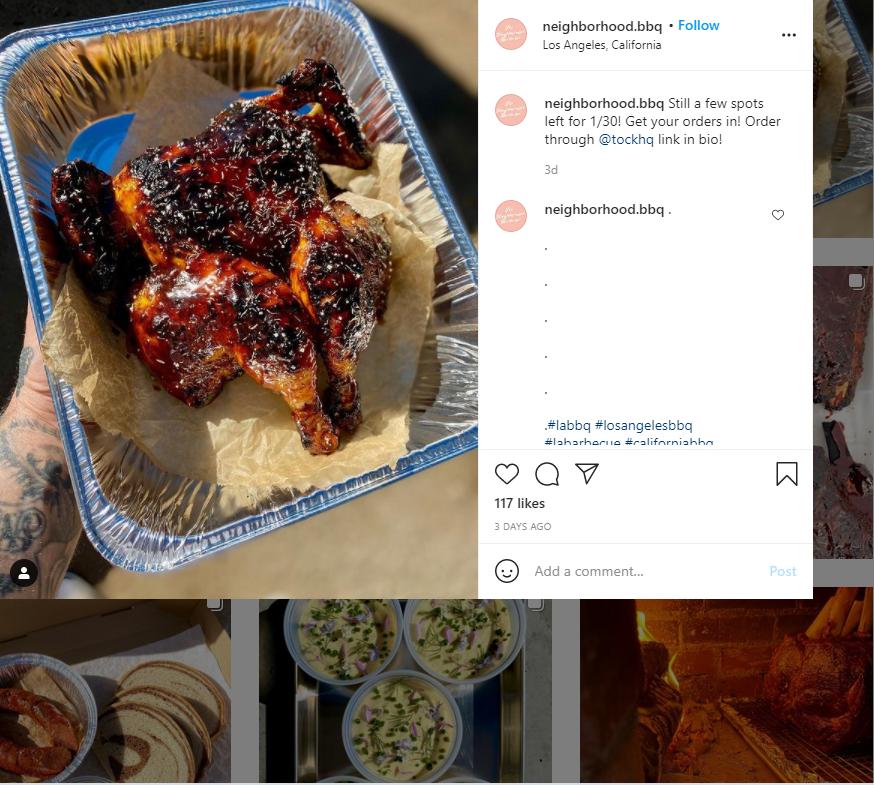 Restaurants Selling On Instagram DM