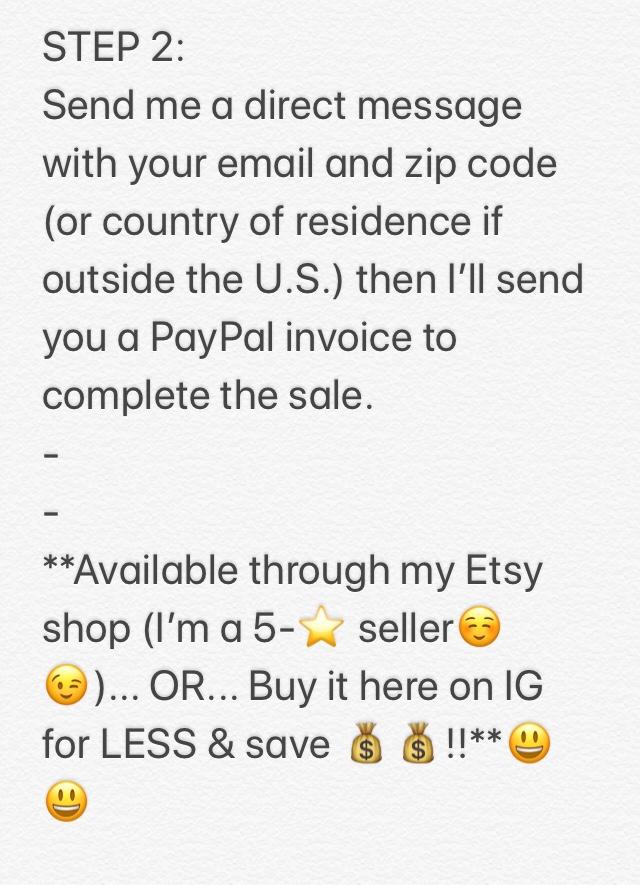 Instagram DM Purchase Instructions
