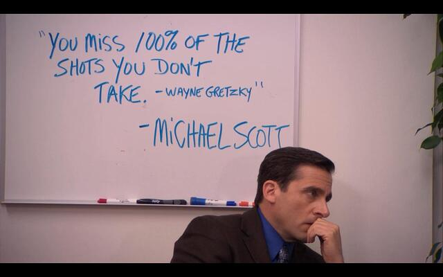 """Inspirational"" quote from Michael Scott of The Office"